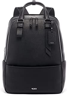Varek Worth Leather Laptop Backpack - 15 Inch Computer Bag for Men and Women - Black