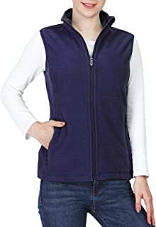 Women's Polar Fleece Zip Vest Outerwear with Pockets,Warm...