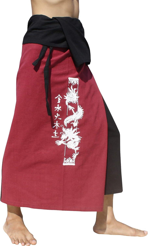 RaanPahMuang Thick 数量限定アウトレット最安価格 Cotton Two ブランド激安セール会場 Color P Wrap Samurai Dragon Column