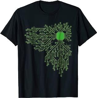 Computer Chip CPU Core Heart - Funny Computer Geek T Shirt