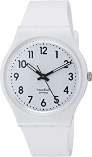 New Core Quartz Silicone Strap, White, 16 Casual Watch (Model: GW151O)