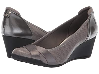 Anne Klein Sport Timeout Wedge Heel (Pewter) Women