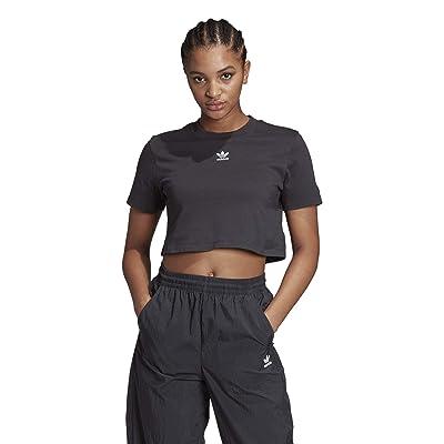 adidas Originals Trefoil Cropped Tee (Black) Women