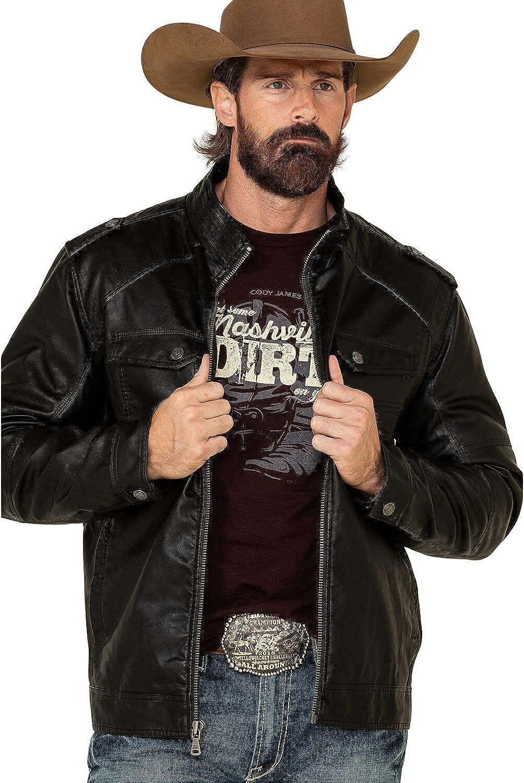 Cody James mens Full Zip,moto Jacket