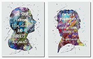 Sherlock Watson Quote Wall Art Print Room Decor 2 Pack