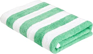 comprar comparacion AmazonBasics - Toalla de playa, de rayas Cabana, color verde, pack de 1