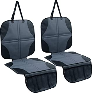 Ohuhu Car Seat Protector Under Car Seat 2 Pack, Non-Slip Car Seat Protector for..