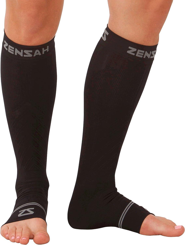 Zensah Ankle mart Calf Compression Sleeves- for Socks Toeless Circula Denver Mall