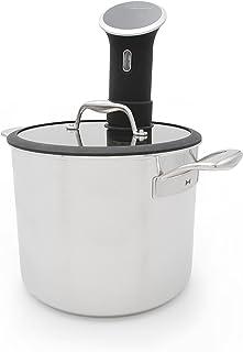 Tuxton Home Chef Series Sous Vide Pot, 9.8-Quart, Silver