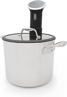 Tuxton Home THBCZ3-SS9-G Chef Series Sous Vide Pot, 9.5-Quart, Silver