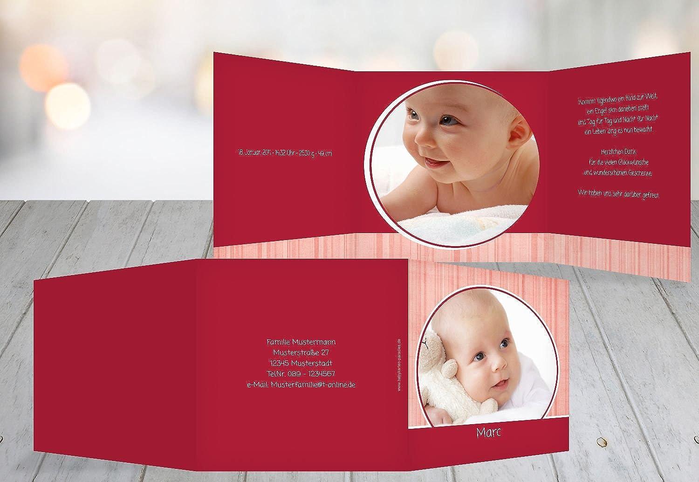Kartenparadies Danksagung Danksagung Danksagung für Geburt Baby Dankeskarte Streifentapete, hochwertige Danksagungskarte Baby inklusive Umschläge   10 Karten - (Format  145x145 mm) Farbe  WeinRot B01N9XAXQ4   Wunderbar    Viele Sorten    Innovation  546ecc