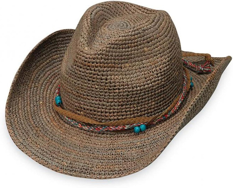 Wallaroo Hat Company Women's Catalina Cowboy Hat  Raffia, Modern Cowboy, Designed in Australia