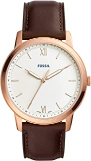 Fossil Mens Quartz Watch, Analog Display and Leather Strap FS5463