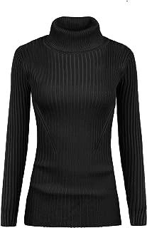Women Stretchable Turtleneck Knit Long Sleeve Slim Fit...