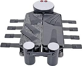 Swissmar KF-77073 Swivel 8-Person Raclette with Granite Stone and Cast Aluminum Non Stick Grill Plate, Black