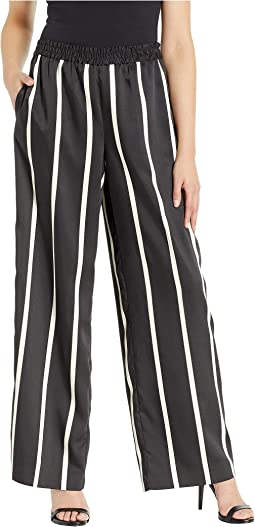 Dramatic Stripe Wide Leg Pull-On Pants