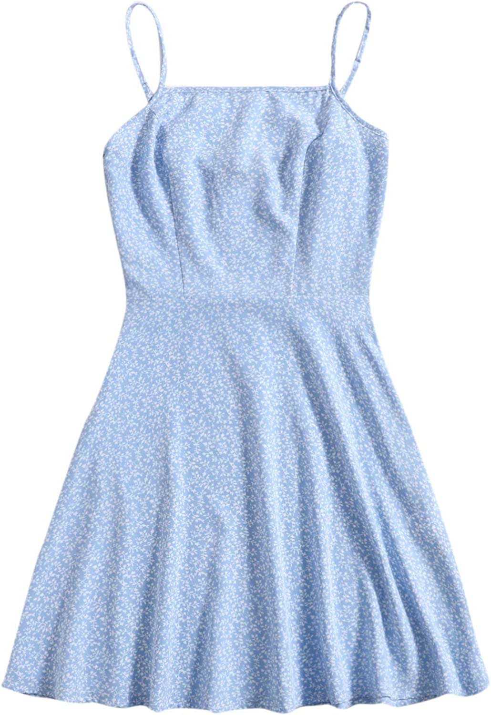 Floerns Women's Ditsy Houston Mall Floral High Waist Dress Popular popular A Line Short Cami