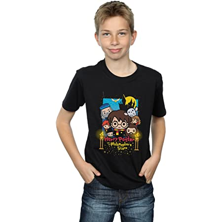 HARRY POTTER niños Philosopher's Stone Junior Camiseta 9-11 Years Negro