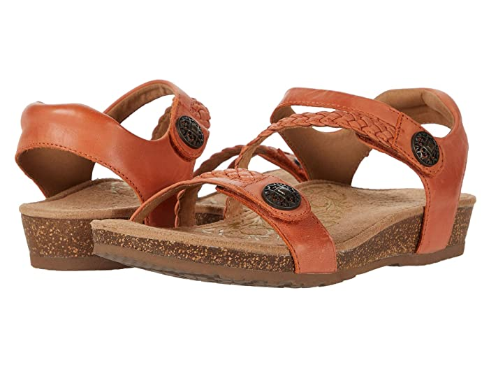 Aetrex  Jillian Quarter Strap (Tangerine) Womens Sandals