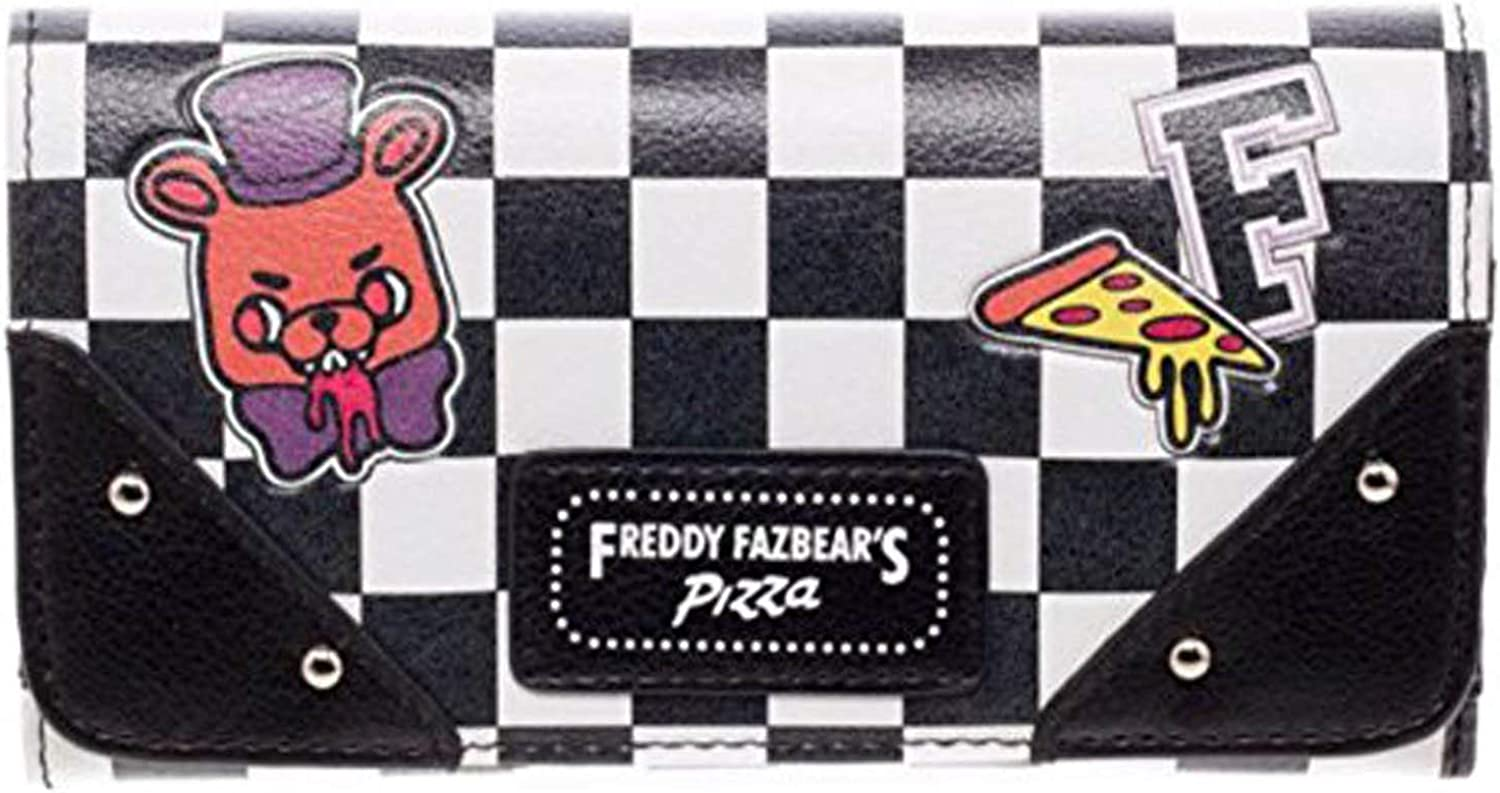 Bioworld Five Nights at Freddy's Womens Black Whit Wallet Zip Now on sale Milwaukee Mall