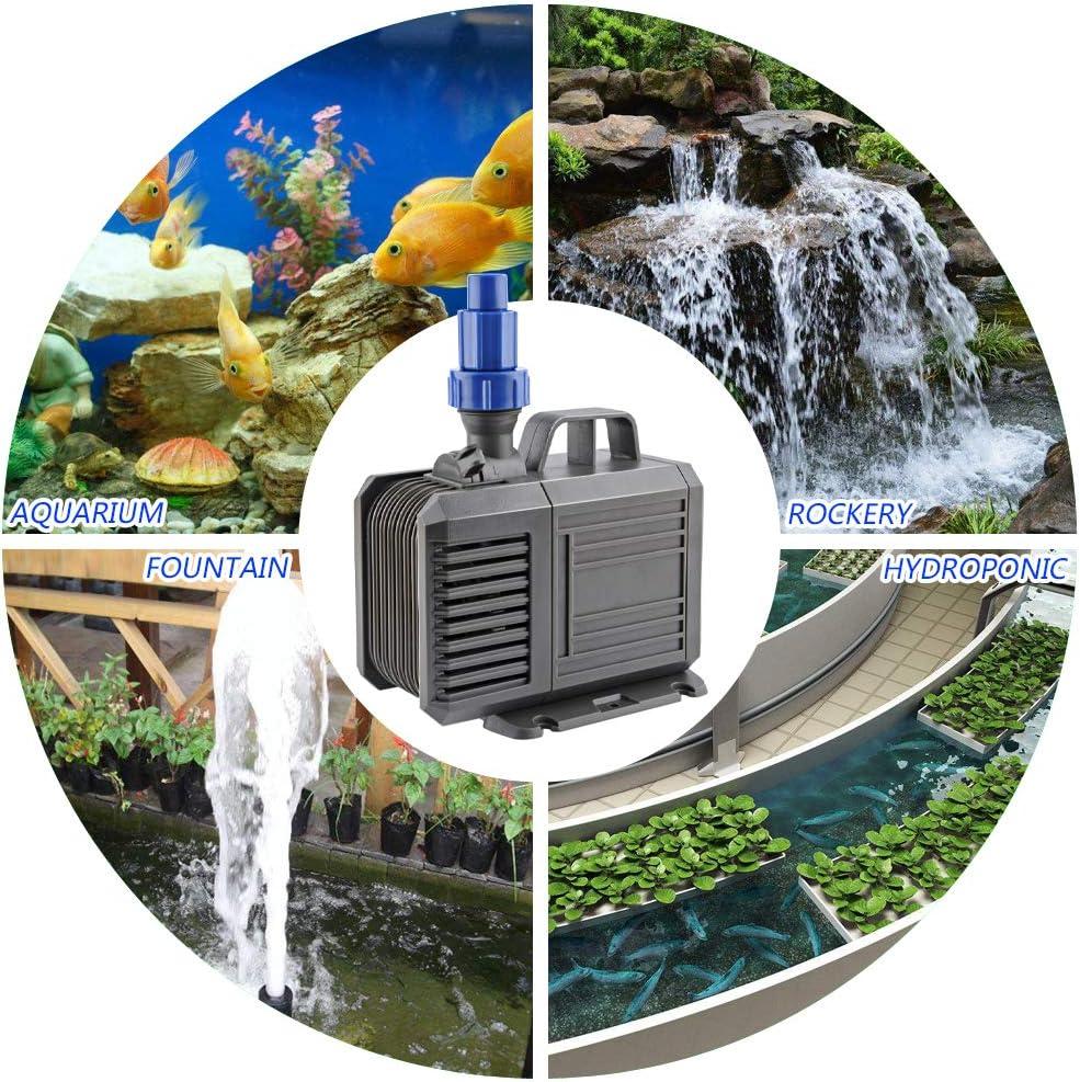 FREESEA Aquarium Submersible Fountain Pump: 40W 740GPH Ultra Quiet Water Pump for Pond | Fish Tank | Pool | Garden Waterfall | Sump | Hydroponic : Pet Supplies