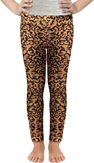 Girls Stretchy Leggings Mermaid Leopard Animal Prints Pants 3-11 Years