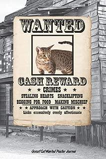 Ocicat Cat Wanted Poster Journal
