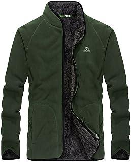Goorape Men's Classic Solid Fleece Crewneck Sweater Soft Vintage Jacket