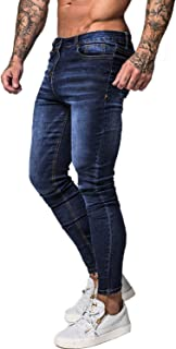 GINGTTO Men's Skinny Jeans Stretch Ripped Tapered Leg