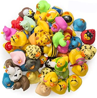 Rubber Ducks -50 Assorted Pieces-2 Inch - for Kids, Party Favors, Gift, Birthdays, Baby Showers, Baby Bath Toys, Bath Time...