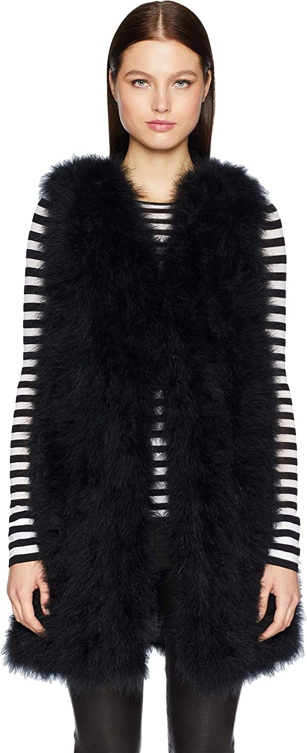 LAMARQUE Womens Verda Feather Vest