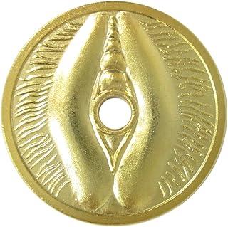 福銭 お守り銭 財を生む・福を生む 大願成就女陰銭 金色