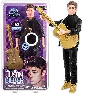 Justin Bieber Singing 'Boyfriend' 30cm Doll & Guitar (Black Outfit)