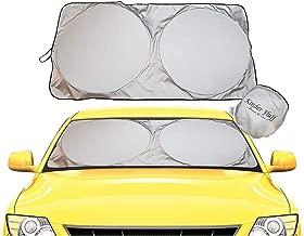 kinder Fluff Windshield Sun Shade -Luxurious 210T Fabric in The Market Maximum UV Sun Protection -Foldable Sunshade car Windshield Will Keep Your car Cooler- Windshield Sunshade (Large)