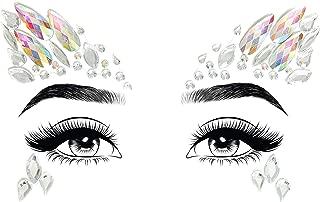 Women's Costume Crystal Rhinestone Rave Face Jewelry Adhesive