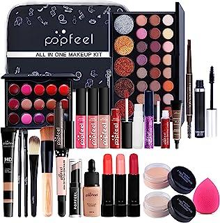 RoseFlower 30Pcs Professional Makeup Set, Essential Make up Starter Set All-In-One Make-up Gift Sets With Cosmetic bag Eye...