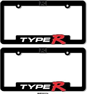 Type-R License Plate Frames Honda Civic Acura Integra 3D Letter Frame Brackets (1-Pair)