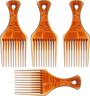4 Pcs Afro Pick Pik Comb African American Hair Brush Plastic Hair Coloring Combs Hairdressing Styling Tool Tbestmax