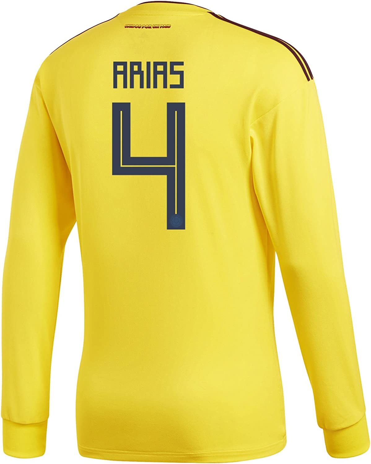 Adidas Arias  4 Colombia Home Men's Long Sleeve Soccer Jersey World Cup 2018
