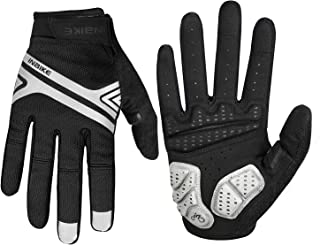INBIKE Cycling Gloves,Screen Touch Bike Gloves Mountain Road 5MM Pads Full Finger Reflective for Men