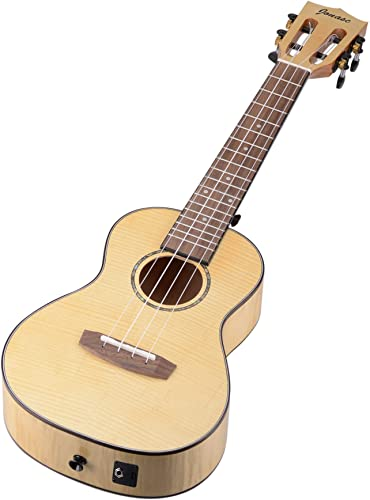 2021 Mallofusa sale Professional Concert 4-String Ukulele 23 inch Wooden Ukulele Instrument Full Flamed Maple Natural (With new arrival EQ/Tuner) online sale