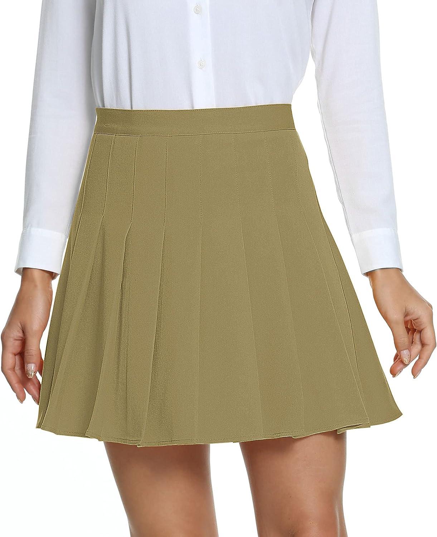 Urban CoCo Women's Pleated Skirt High Skater Scho Cheap Waisted NEW Tennis