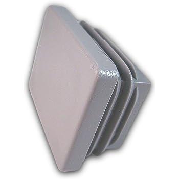 Aussenma/ß 90x50mm OL 1 Stopfen f/ür Rechteckige Rohre schwarz