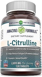 Amazing Formulas L Citrulline 2000mg Per Serving 120 Tablets (Non-GMO,Gluten Free) - Promotes Healthy Circulation & Cardio...