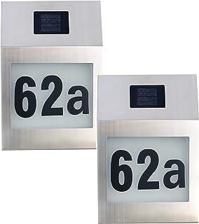 Edelstahl Wandlampe mit Hausnummer /& Bewegungsmelder,1 St/ück