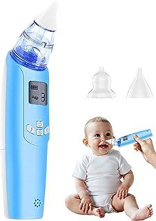 Aspirator برقی بینی کودک برقی - پاک کننده بینی با عملکرد و باتری کار باتری - تنظیمات قابل تنظیم و نکات قابل استفاده مجدد با صفحه LCD