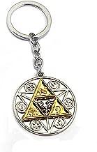 DoubleChin Zelda Triforce Keychain - Triforce Medallion Keychain