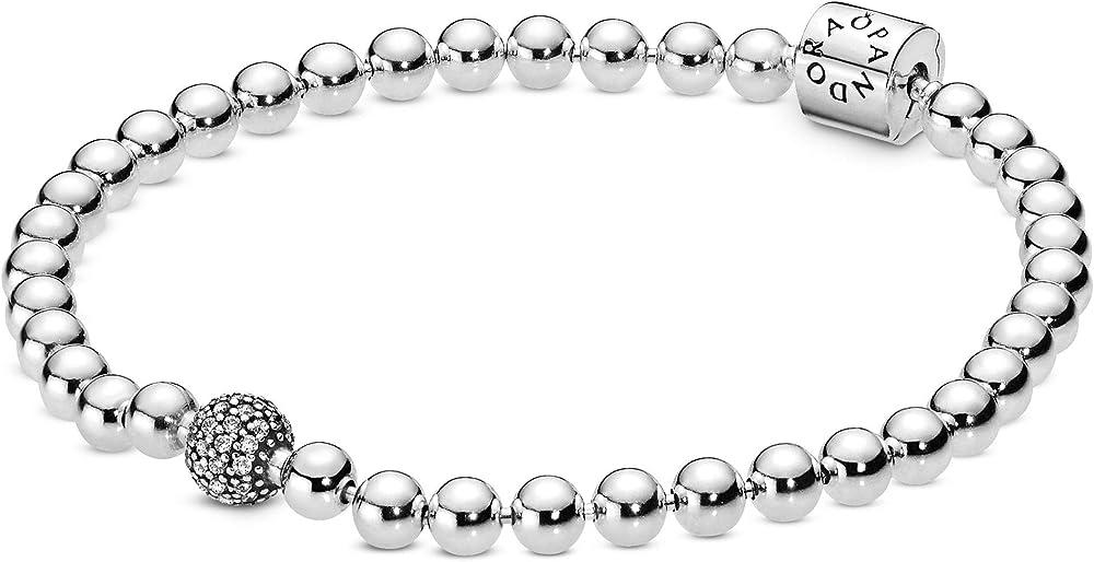 Pandora bracciale da donna con perline e pavé 598342CZ-19