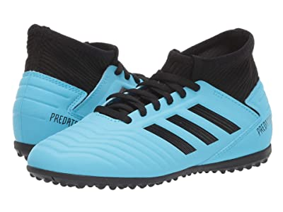 adidas Kids Predator 19.3 TF J Soccer (Little Kid/Big Kid) (Bright Cyan/Black/Solar Yellow) Kids Shoes