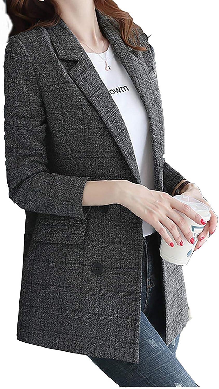 IFYG Medium-Length British-Style Suit Jacket in Spring and Autumn Dunkelgrau